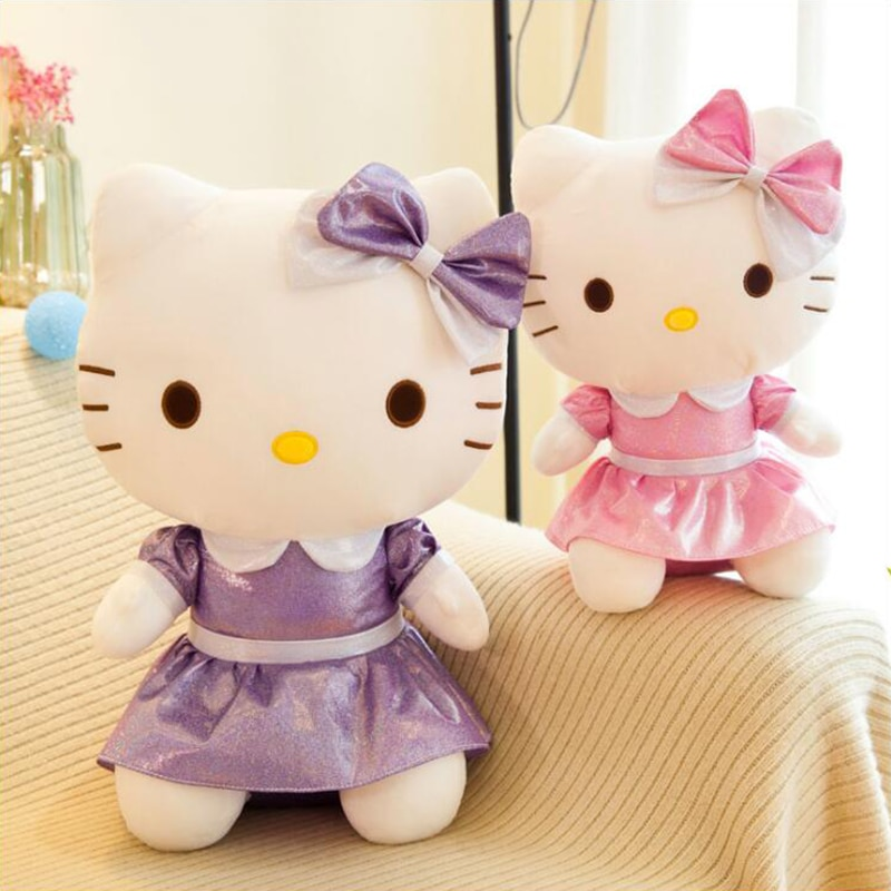 Free Shipping Pillow Hello Plush Toy Stuffed Toy Cat Dolls Anime Figure Toys for Children Doll for Kid Baby Birthday Gifts pj masks greg luxury cat car connor cat kid owl girl flying wall man anime figures toys for children birthday gift 7d08