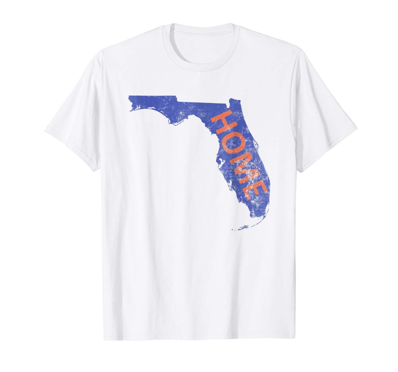 Hogar-Florida azul y naranja camiseta impresa camiseta niños Top camiseta algodón top camiseta Harajuku camisa de manga corta