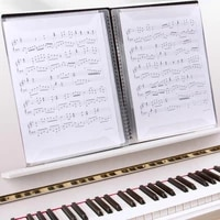 A4 Music Binder 2-Sided Spread Anti-reflective 20 Pages Sheet Music Storage Folder for Musician Music Binder Music Storage Folde