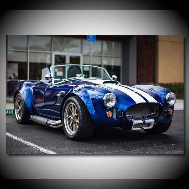 Casa impresiones de decoración pintura Supercar fotos pared arte Shelby AC Cobra...