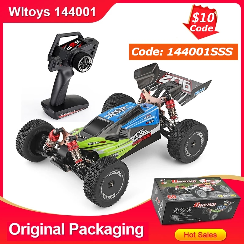 Wltoys 144001 1/14 2.4G سباق RC سيارة 4WD عالية السرعة التحكم عن بعد نماذج السيارات اللعب 60km/ساعة ضمان الجودة للأطفال