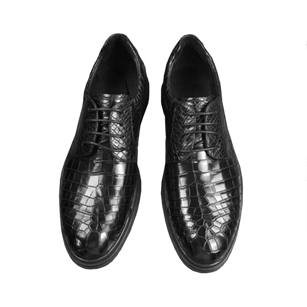 ousidun new  crocodile belly  Leather men shoes  male  Leisure shoes  lace-up  fashion  trend  custom men shoes