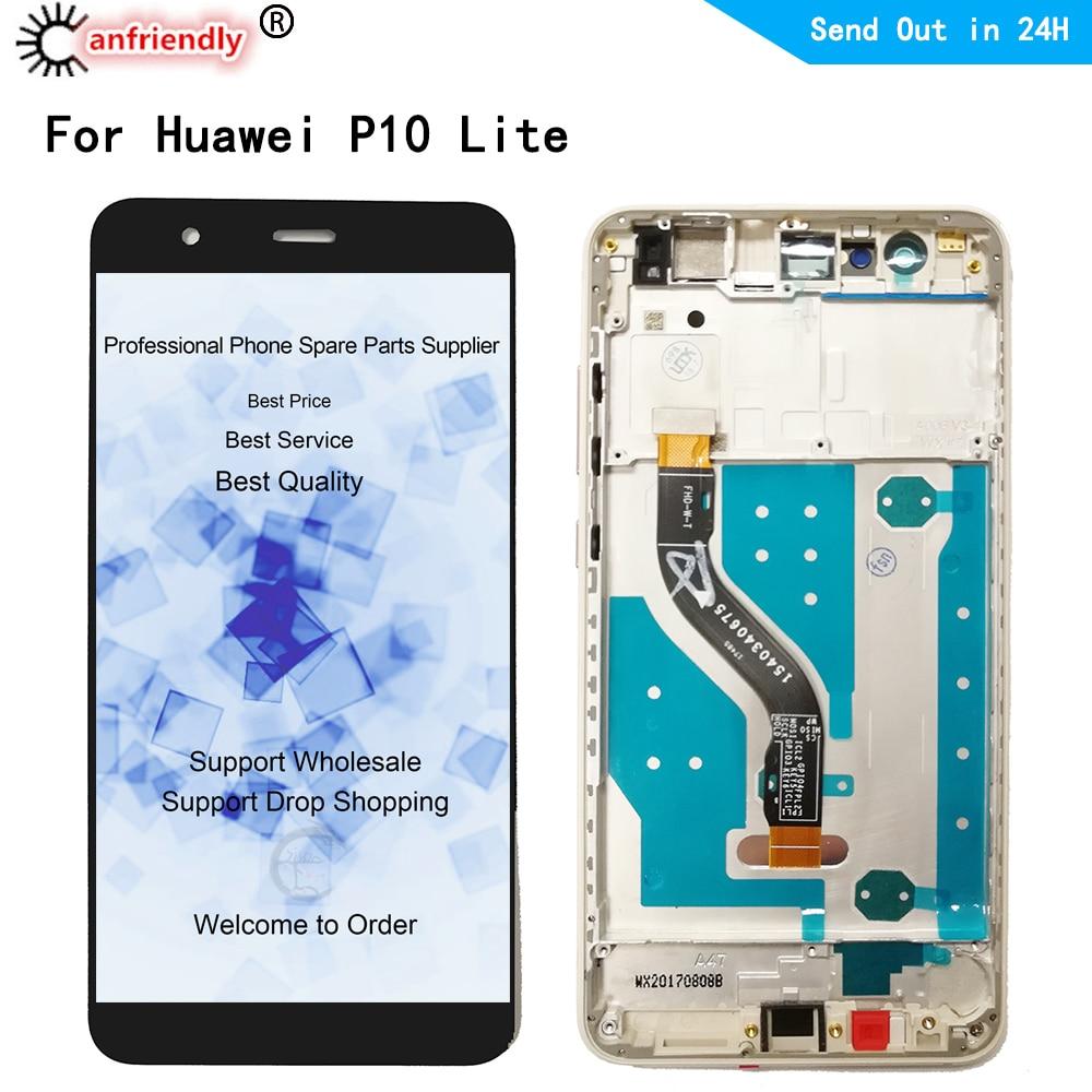 Para Huawei P10 Lite fue L03T LX1 LX1A LX2 LX2J LX3 pantalla LCD + pantalla táctil reemplazo digitalizador ensamblaje para Huawei P 10 lite