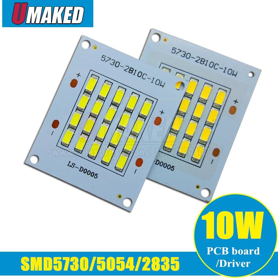 10W LED PCB Floodlight source, Full power 5730/ 2835/ 5050smd LED aluminum plate base, Warm white/ White outdoor light