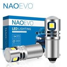 NAOEVO H21W LED H6W BA9S BAY9S BAX9S T4W 12V 24V LED araba arka sis lambası 6000K h5W 2835 SMD beyaz otomatik park ters lamba