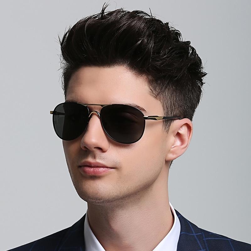Солнцезащитные очки-авиаторы поляризационные UV400 для мужчин и женщин, винтажные брендовые дизайнерские черные солнечные очки для вождения