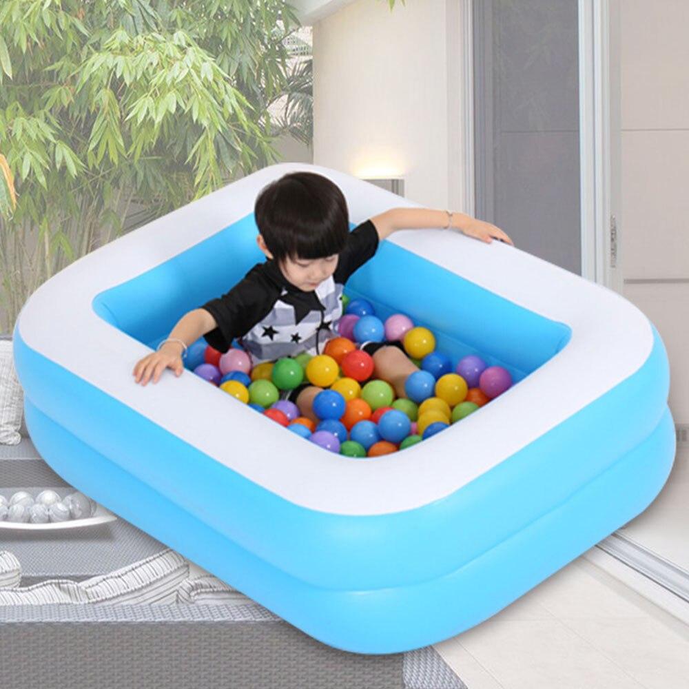 Enfants gonflable carré piscine baignoire bébé usage domestique pataugeoire enfants gonflable piscine salon piscine