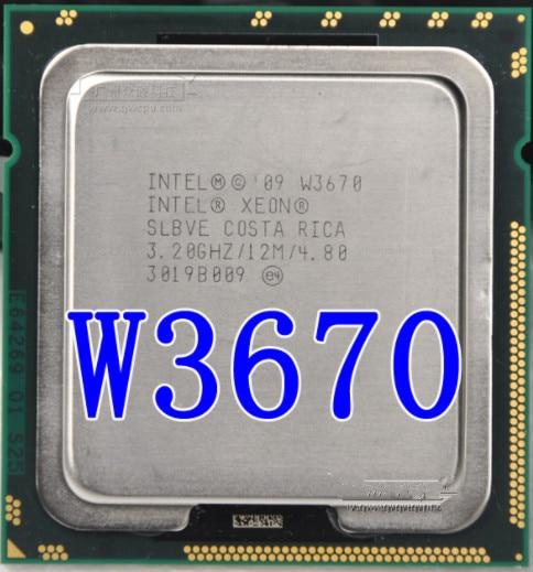 Процессор Intel Xeon W3670 w3670 Процессор 3,2 ГГц LGA1366 12 МБ L3 кэш/шестиядерный/серверный процессор W3670