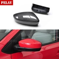 1 pair car accessories full replacement carbon fiber rearview mirror caps cover for vw polo 2004 2005 2006 2007 2008 2009 2011up