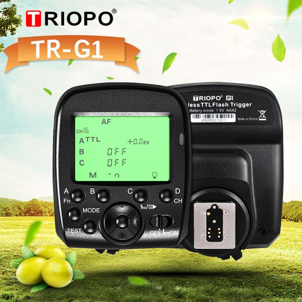 TRIOPO G1 Dual TTL, reloj inteligente con pantalla panorámica LCD 1/8000 s HSS 2,4G, transmisión inalámbrica, 16 canales