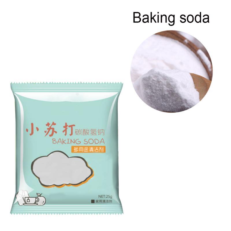 Descontaminación multifuncional de 25g, bicarbonato de sodio, polvo limpio seguro, agente limpio sin moho, no tóxico, herramienta de limpieza de ropa para el hogar