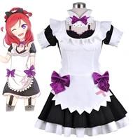 2019 anime love live school idol project nishikino maki maid cosplay costumes custom made halloween costumes for women