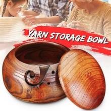 14-16 Cm Handgemaakte Garen Houten Kom Breien Haak Opslag Kommen Breien Naald Opslag Houder Voor Thuis Leveringen # BL3