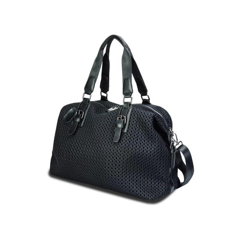 السفر المنظم حقيبة كتف السيدات الموضة الفاخرة تصميم النايلون حقيبة يد شبكية سعة كبيرة للإزالة حقيبة التخزين