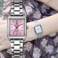 wwoor womens watches 2021 top luxury pink women square watch ladies elegant small waterproof wrist watch xfcs relogio feminino