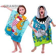 Baby Bath Towel Poncho Blanket Microfiber Kids Children Hooded Towel Bath Robe Bathrobe Boy Girl Quick Dry Travel Beach Towel
