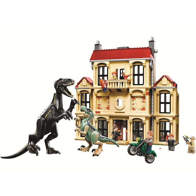 Compatível lepining Mundo Jurássico Brutal Raptor 2 Jurássico Mundo Dinossauro Figuras Blocos de Construção Tijolos Brinquedos Para Crianças