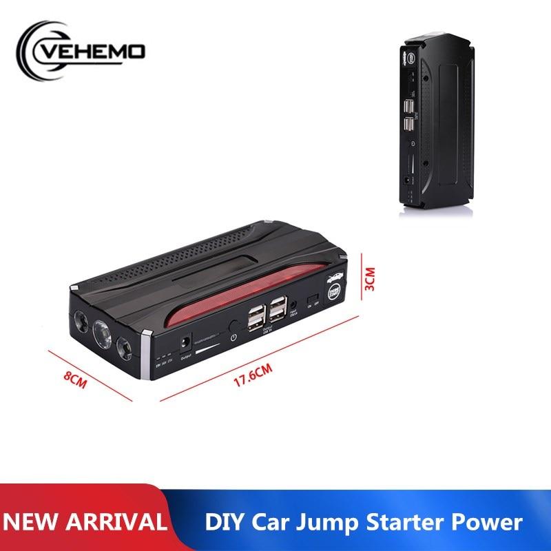 Vehemo-مجموعة بدء تشغيل السيارة متعددة الوظائف ، مع مصباح LED 4USB ، وبنك طاقة ممتاز