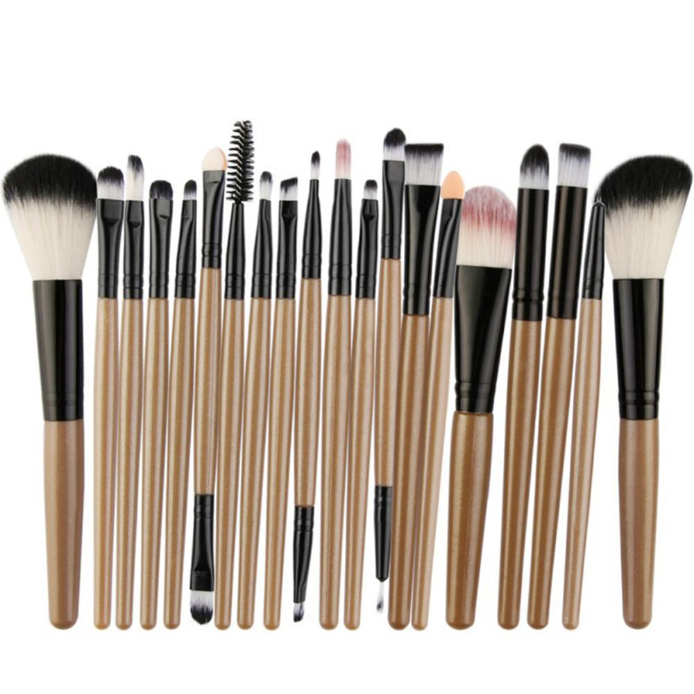 Набор кистей для макияжа, тени для век, пудра, подводка для глаз с ресницами, кисти для макияжа с губами, косметический набор инструментов дл...