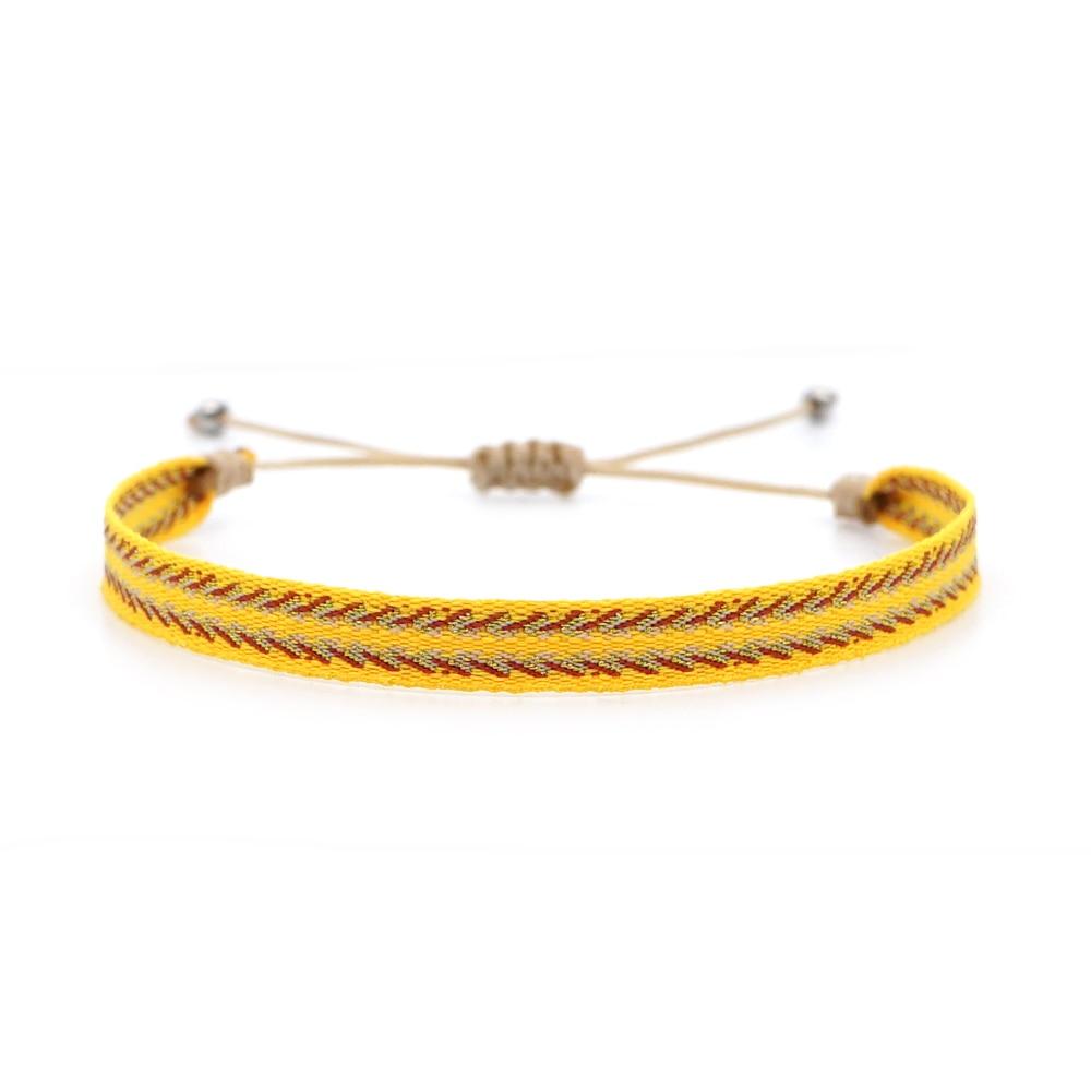 Go2boho pulseira feminina trançado boho jóias padrão corda ajustável handwoven boêmio pulsera 2020 braceletes de verão