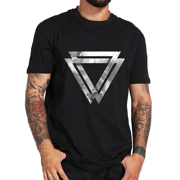 abstract triangles Men T-Shirts Fashion 2019 Summer Male High Quality Printing T Shirts Mens Comfortable Tee Sh