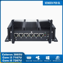 Güvenlik duvarı yönlendirici Mini PC Intel i5 7267U 6 LAN çekirdek i3 7167U 2957U 3865U 2 RS232 COM 4G WiFi pfsense Windows 10 Pro destek AES-NI