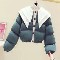 women cotton short jacket autumn and winter casual style woman parkas female coats