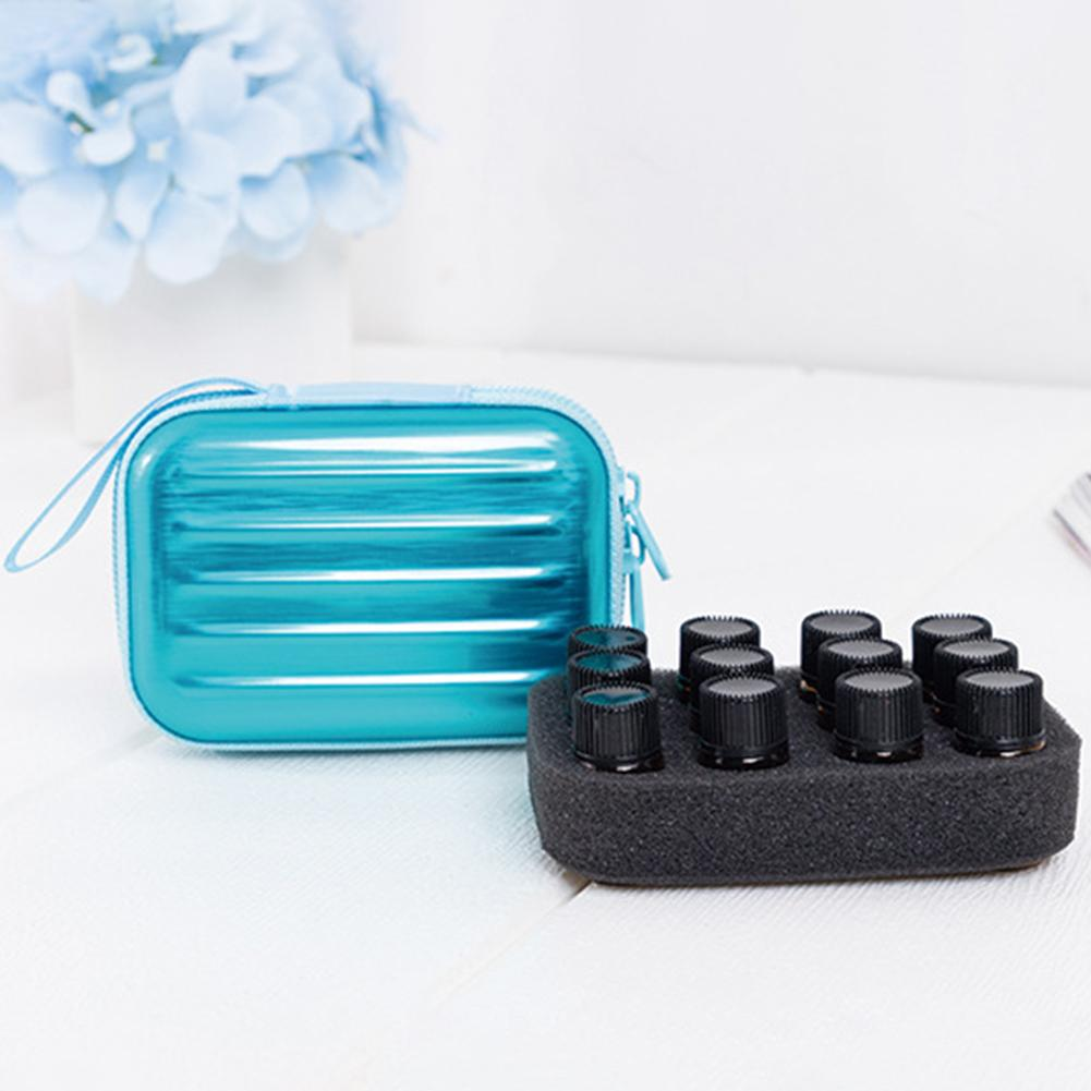 Essential Oil Storage Bag 12 grids 1ML-3ML Travel Portable zipper bag Carry Hanging Organizer Storage Bags Protect Case
