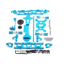 for WLtoys 1:14 144001 RC Car Full Upgrade Spare Parts Metal C Seat Steering Cup Swing Arm Central D