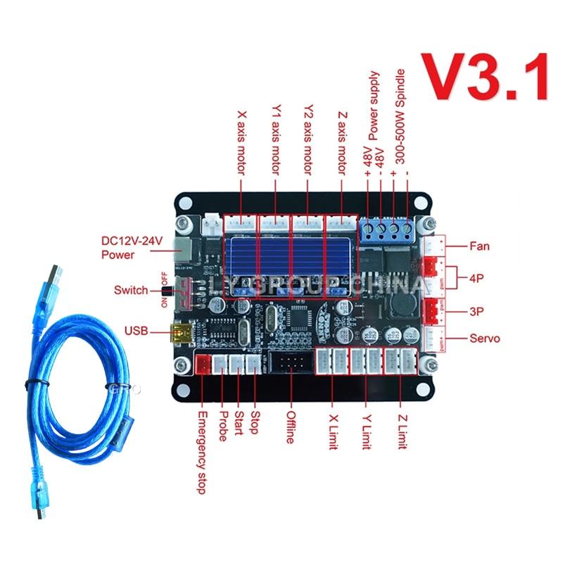 DIY GRBL 3 Axis Motherboard V3.1 USB Port Control Board for Desktop Cnc Engraving Machine Laser Engraving Machine Board