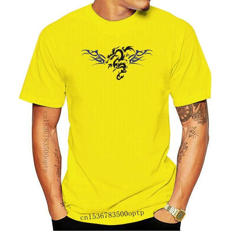 New Printed T-Shirts Men Fashion 2021 Brand Clothing Cotton Fantasie Drachen Lord Tribal T-Shirt cosplay Tee Shirts