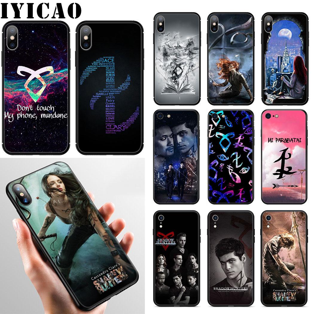 IYICAO de los cazadores de sombras estuche para teléfono suave para iPhone XR X XS X máx. 6S 6 7 8 Plus 5 5S SE cubierta