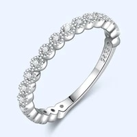 women rings 925 silver jewelry accessories with zircon gemstone finger ring for wedding promise party gift ornaments wholesale