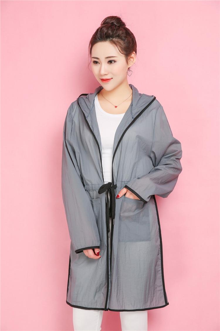 Summer Women sun-proof clothing Plus Size Tops Fashion Long Sleeve Hooded Loose Female coat Z8641