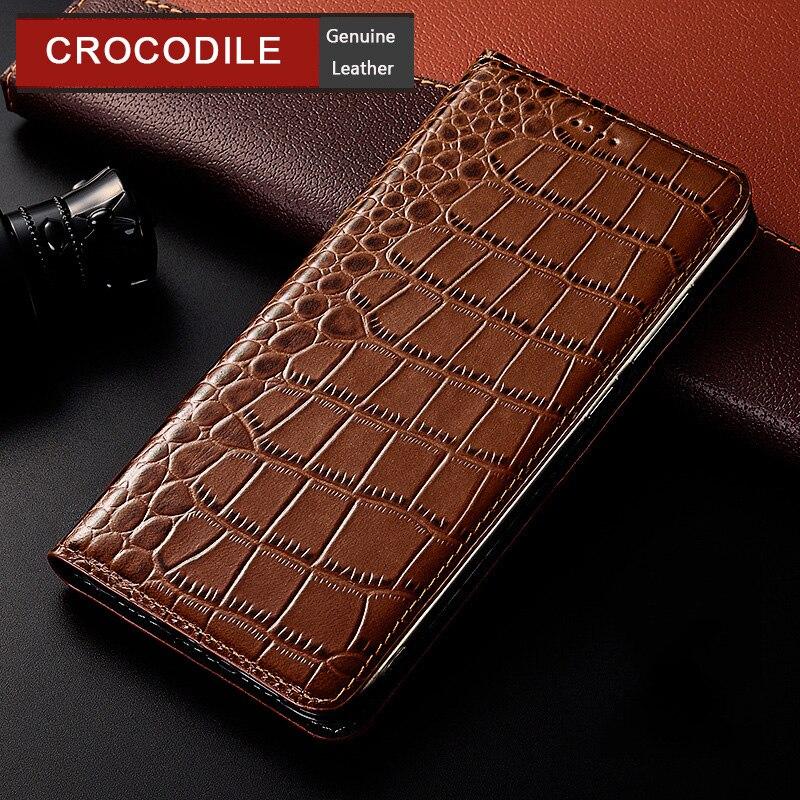Чехол из натуральной крокодиловой кожи для zte Axon 7 9 10 Axon7 Axon9 Axon10 Pro Mini Max C2016 C2017 2017 2018 откидной кожаный чехол