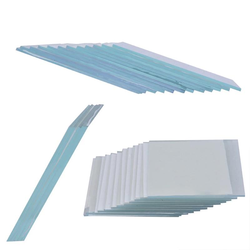 100x200x1.1 مللي متر ، 3 قطعة مختبر شفاف موصل الزجاج إنديوم القصدير أكسيد إيتو الزجاج المطلي