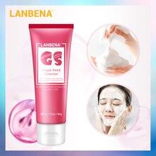 LANBENA nettoyant visage vitamine E mousse nettoyante pour le visage nourrissante nettoyage en profondeur huile hydratante nettoyant pour la peau lisse lavage pour le visage