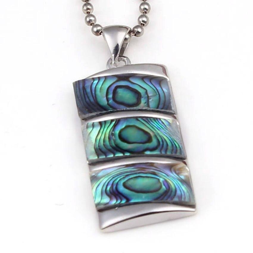 Colgante de concha de abulón Natural para las mujeres y los hombres collar con cuentas de energía Reiki y amuleto curativo
