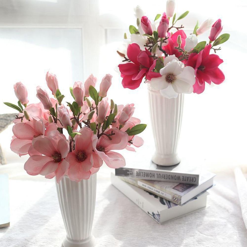 wedding decoration silk flowers orchid Magnolia wedding artificial flowers for home decoration Blumen