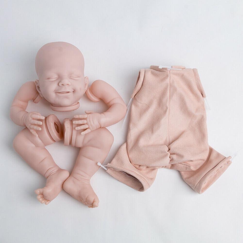 22 дюймовая ткань, имитирующая тело, подарок на день рождения, Спящий ребенок, Кукла Реборн, набор, Забавная детская игрушка, сделай сам, Неокр...
