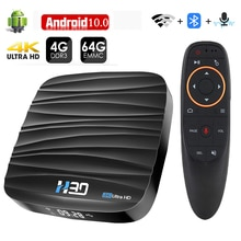 Android TV Box Android 10 4GB 32GB 64GB 4K H.265 reproductor de medios 3D Video Netflix 2,4G 5GHz Wifi Bluetooth Dispositivo de TV inteligente Set top Box