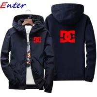 brand mens jacket hooded jacket printed logo dc car casual zipper sweatshirt mens sportswear fashion jacket mens jacket