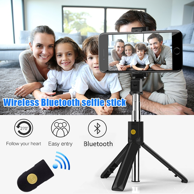 Wireless Bluetooth Selfie Stick Phone Holder Shutter Remote Portable Extendable Tripod @M23