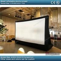 Petit ecran de projection gonflable 16 9  portable  cinema a domicile