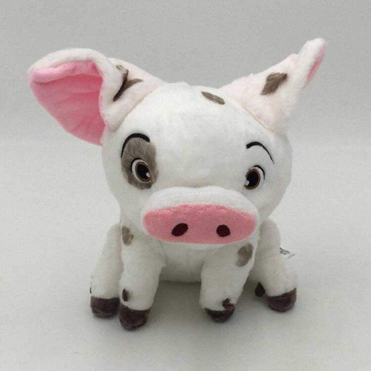 Cartoon Anime Movie TV Moana Figure Plush Toys Pet Pig White  for Children Birthday Gift Cute Stuffed Animal Dolls Soft Cotton