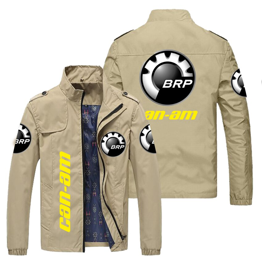 2021new car logo custom LOGO+BRP stand-up collar side seam pocket business casual outer wear youth t