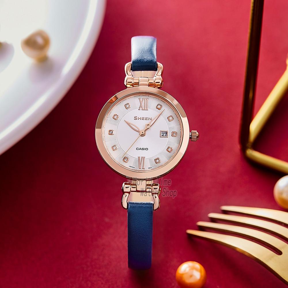 Casio watch Swarovski Crystal women watches set ladies watch women 50m Waterproof Quartz Sport clock reloj mujer enlarge