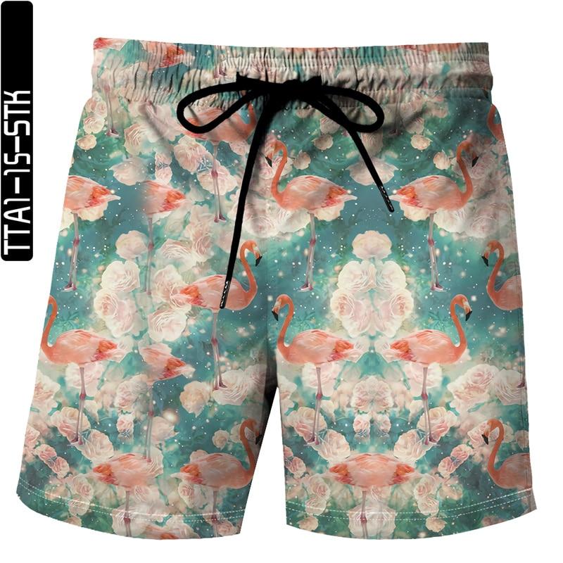 2021 summer latest funny animal elements 3D printing Bermuda beach sports shorts unisex sports casual shorts plus size S-6XL