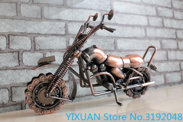 ¡Grandes artesanías de metal de hierro de modelo retro adornos creativos de...