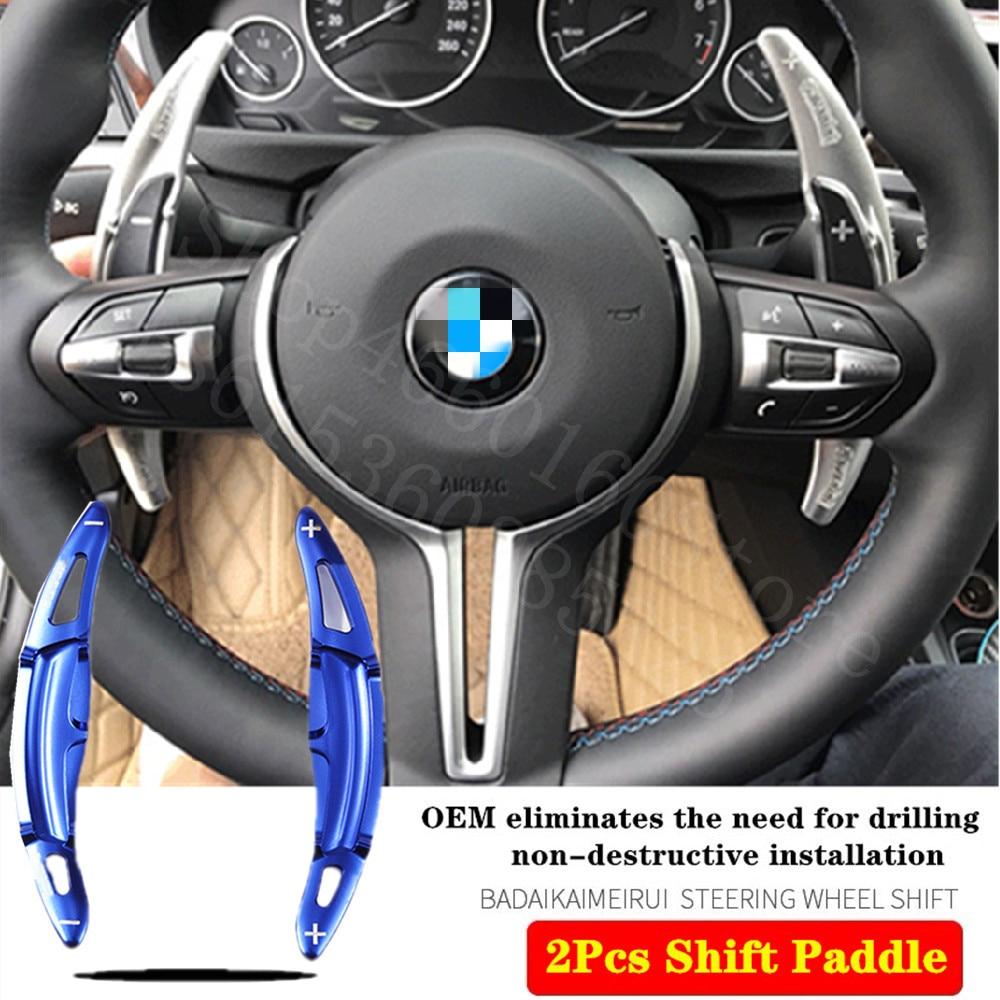 Alta calidad para BMW M2 M3 M6 X5 X6 2011-2020 2 uds molde Original volante de aluminio Cambio de paleta extender palanca de cambios